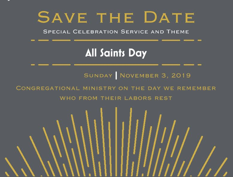 Save the Date: All Saints Celebration